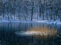 蔦七沼 冬の菅沼 11076001438| 写真素材・ストックフォト・画像・イラスト素材|アマナイメージズ