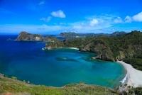 小笠原諸島父島 中山峠より小港海岸と野羊山を望む