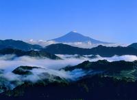 清水吉原から雲海と富士山