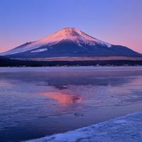 山中湖より紅富士