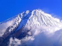 白糸の滝付近より富士山の大沢崩れ