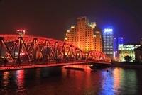外灘 外白渡橋の夜景