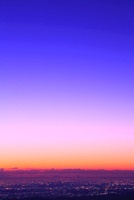 都心の夜明け(遠望)