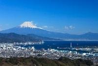 日本平から望む富士山と清水市街
