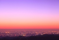 東京都心の夜明け(遠望)