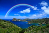小笠原諸島父島 海と虹