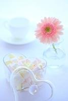 マシュマロとガーベラ コヒーカップ