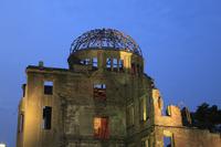 平和記念公園 原爆ドームのライトアップ