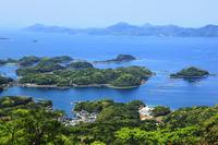 冷水岳から望む九十九島