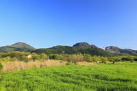 長者原から望むくじゅう連山 11076008129| 写真素材・ストックフォト・画像・イラスト素材|アマナイメージズ