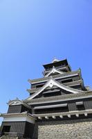 熊本城の天守閣 11076008250| 写真素材・ストックフォト・画像・イラスト素材|アマナイメージズ