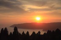 都井岬より望む夕焼け
