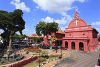 オランダ広場 ムラカ・キリスト教会 11076009068  写真素材・ストックフォト・画像・イラスト素材 アマナイメージズ
