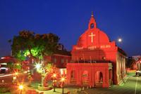 オランダ広場 ムラカ・キリスト教会 11076009069| 写真素材・ストックフォト・画像・イラスト素材|アマナイメージズ