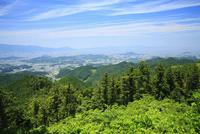 高取城跡国見櫓から望む大和平野