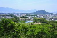 甘樫丘豊浦展望台より望む明日香の里と畝傍山