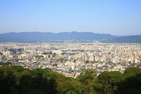 東山将軍塚から望む京都市街