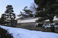 二条城 東南隅櫓と雪景色