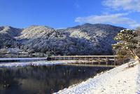嵐山 渡月橋と雪景色