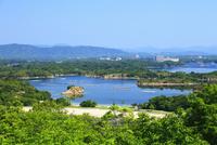 登茂山展望台より望む英虞湾 真珠養殖場