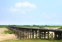 流れ橋 上津屋橋