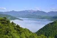 雲海の中禅寺湖と白根山