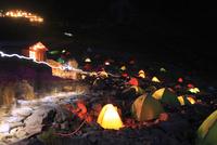 涸沢のキャンプ