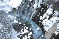 雪の白髭の滝