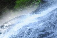 安居渓谷 飛竜の滝 岩肌を伝う流れ