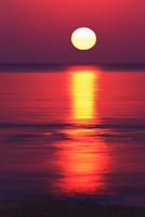土佐湾と夕日