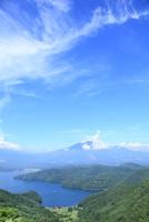 斑尾山登山道より野尻湖と妙高山 11076011754| 写真素材・ストックフォト・画像・イラスト素材|アマナイメージズ