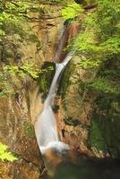 寂地峡の五竜の滝 登竜滝
