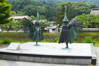 白鷺舞の銅像