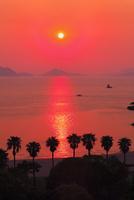 マリンパークビーチ 八代海と夕日