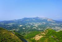 俵山峠からの阿蘇五岳
