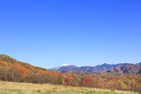 倉越高原の紅葉と乗鞍岳
