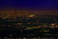 東京市街夜景の遠望