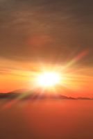 朝日と雲海(浅間山)