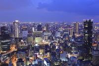 梅田ビル群の夜景