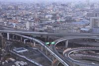 東大阪ジャンクションと夕景