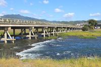 嵐山・渡月橋と桂川