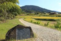 山の辺の道 額田王の歌碑と三輪山 11076013459  写真素材・ストックフォト・画像・イラスト素材 アマナイメージズ