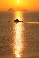 津田より瀬戸内海の朝日