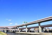 首都高速道路と綾瀬川