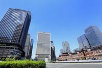 東京駅と丸の内ビル群