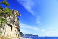 獅子岩と海