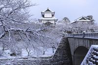 雪の金沢城石川門