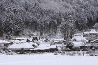 京都美山かやぶきの里 雪景色