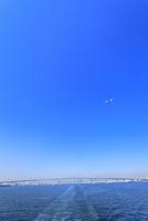 東京港よりゲートブリッジと飛行機