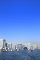 東京港よりビル群と観光船